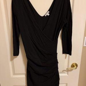 "James Perse Black ""skinny"" dress stretch-Size 3"
